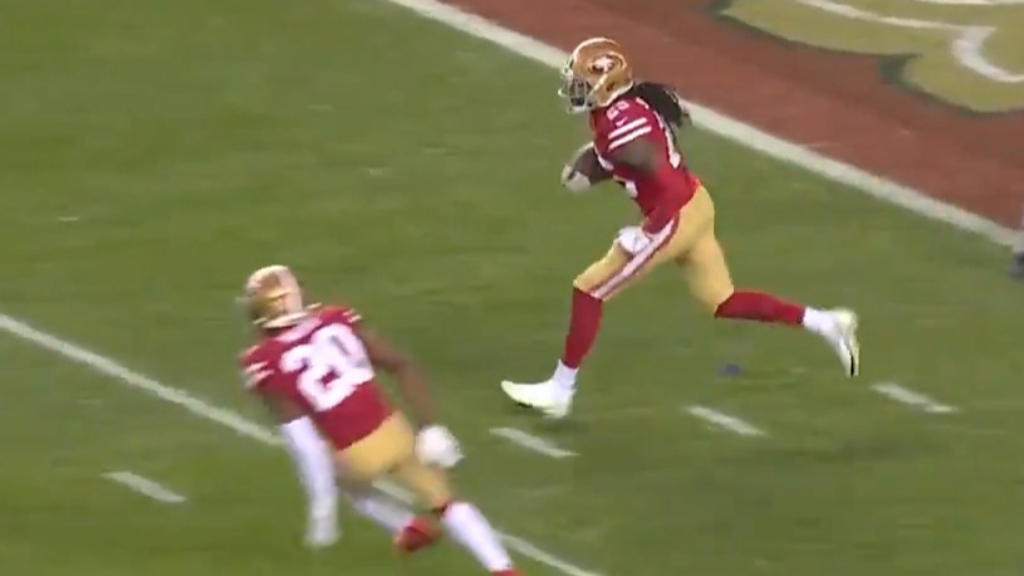 Sherman seals win for 49ers with interception