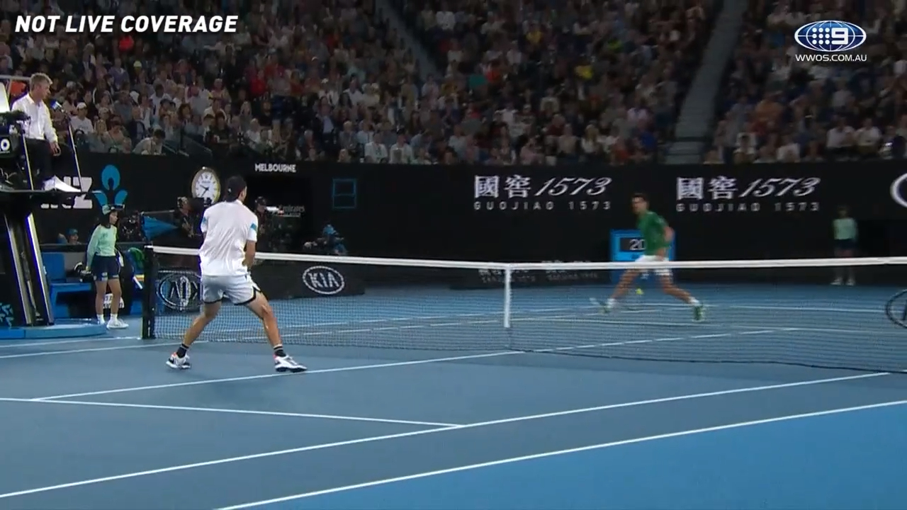 Djokovic's failed tweener