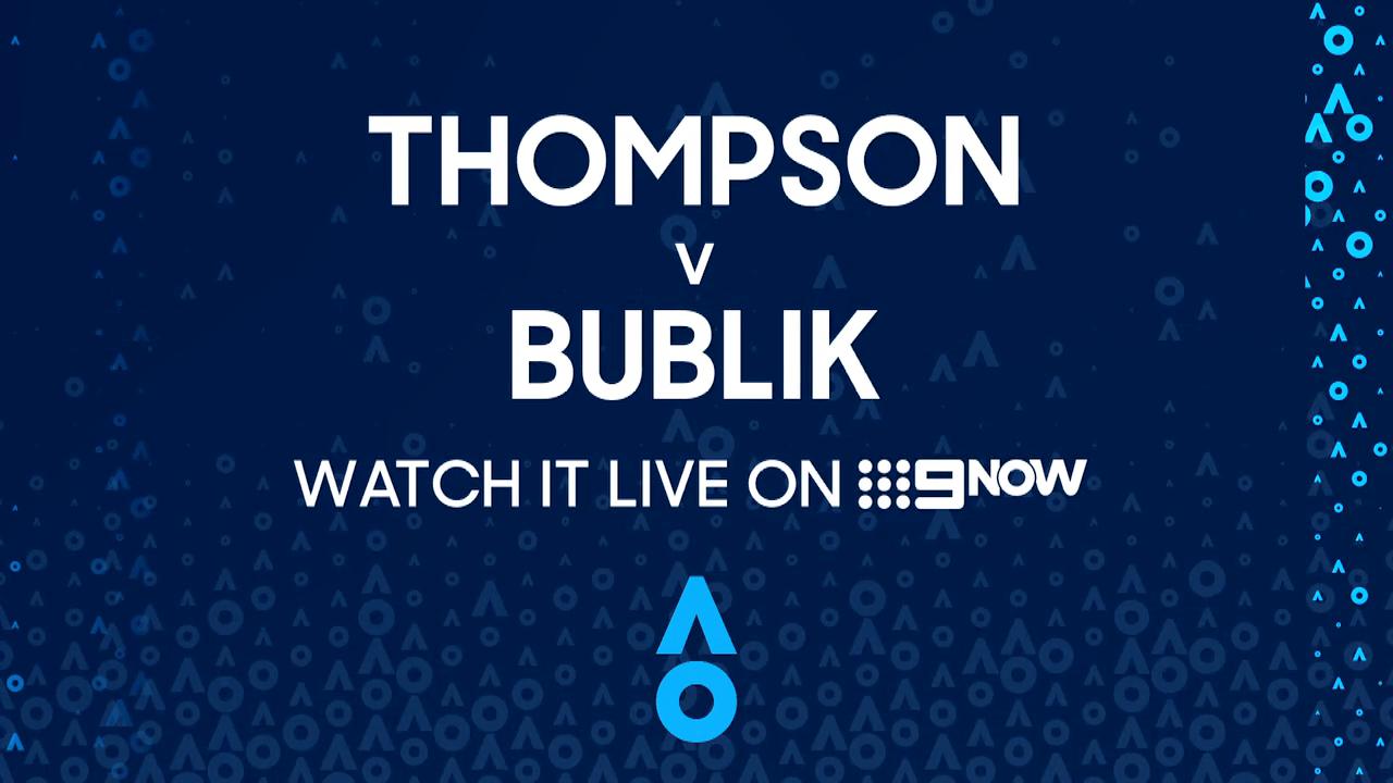 Jordan Thompson v Alexander Bublik: AO Highlights