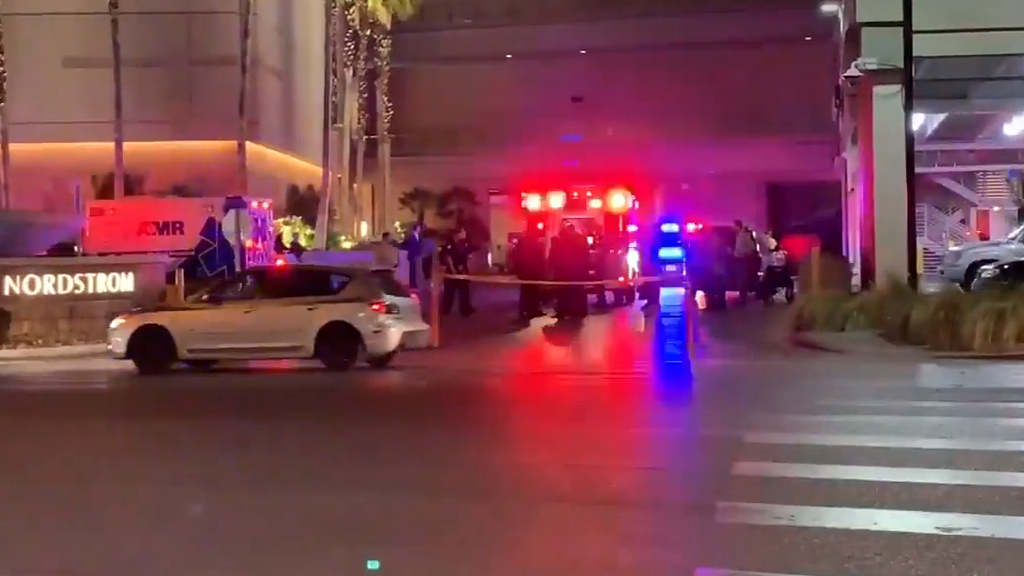 Three injured in shooting at Fashion Show Mall in Las Vegas