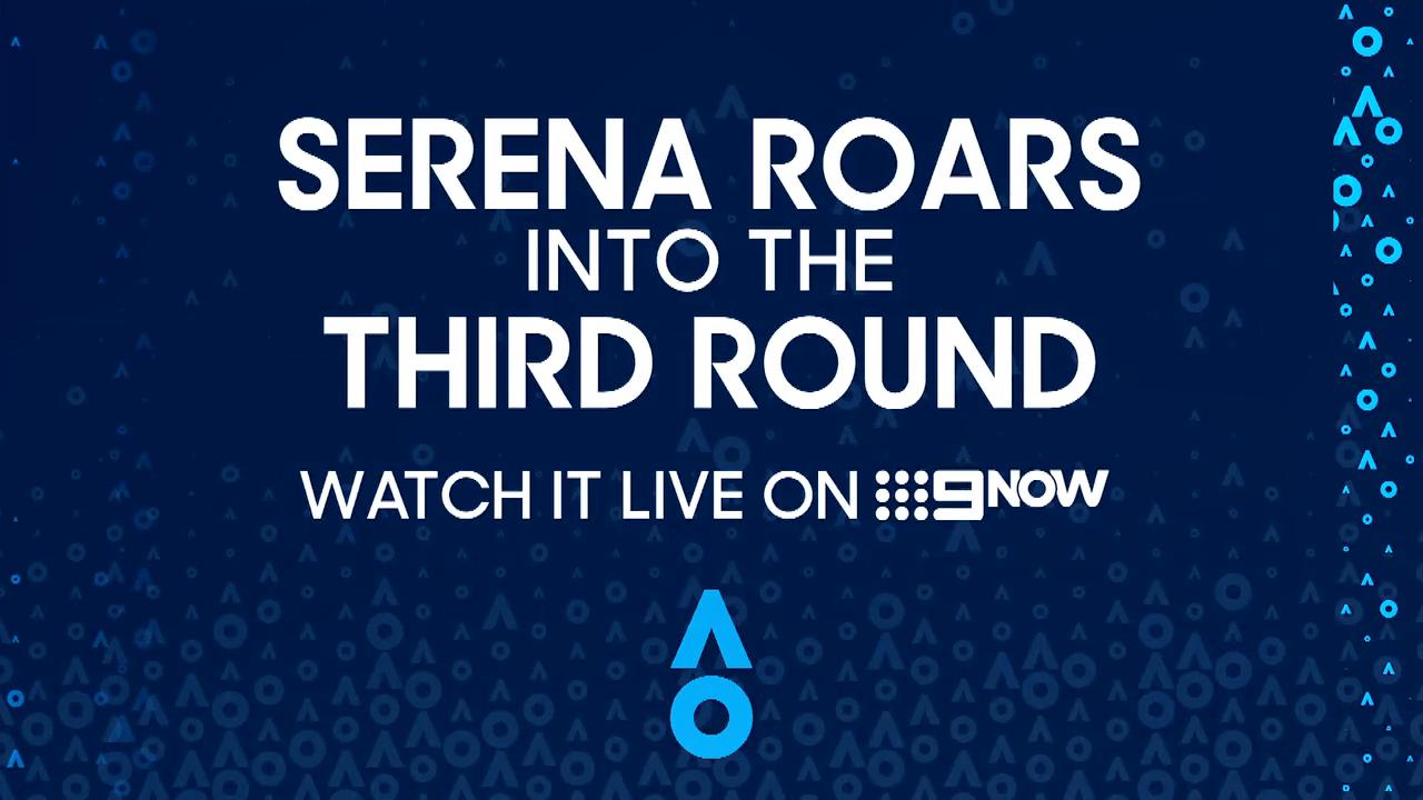 Serena roars into the third round