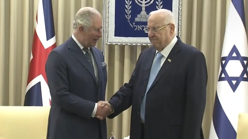 Prince Charles visits Israel to mark 75th anniversary of Auschwitz liberation