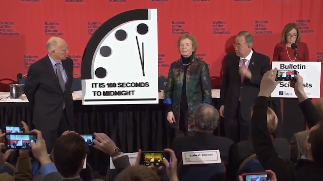 The Doomsday Clock has been moved closer than ever to midnight