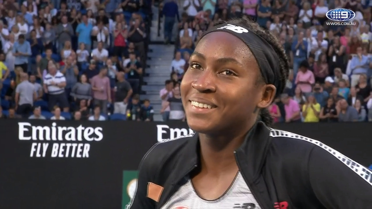 Gauff in awe of her own achievements