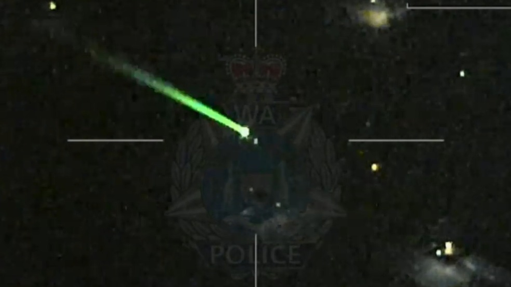 Laser blinds WA Police helicopter