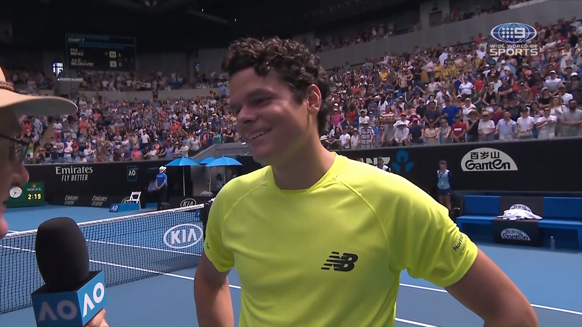 Raonic's hilarious response post match