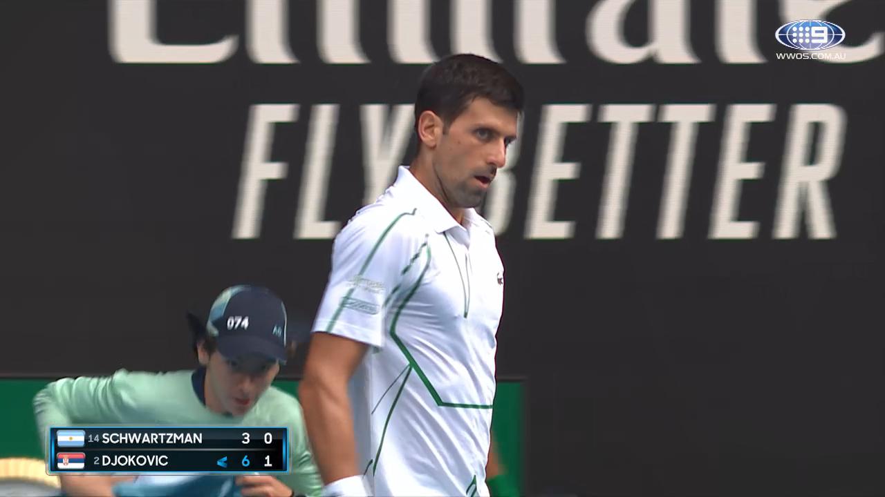 Novak Djokovic v Diego Schwartzman: AO Highlights