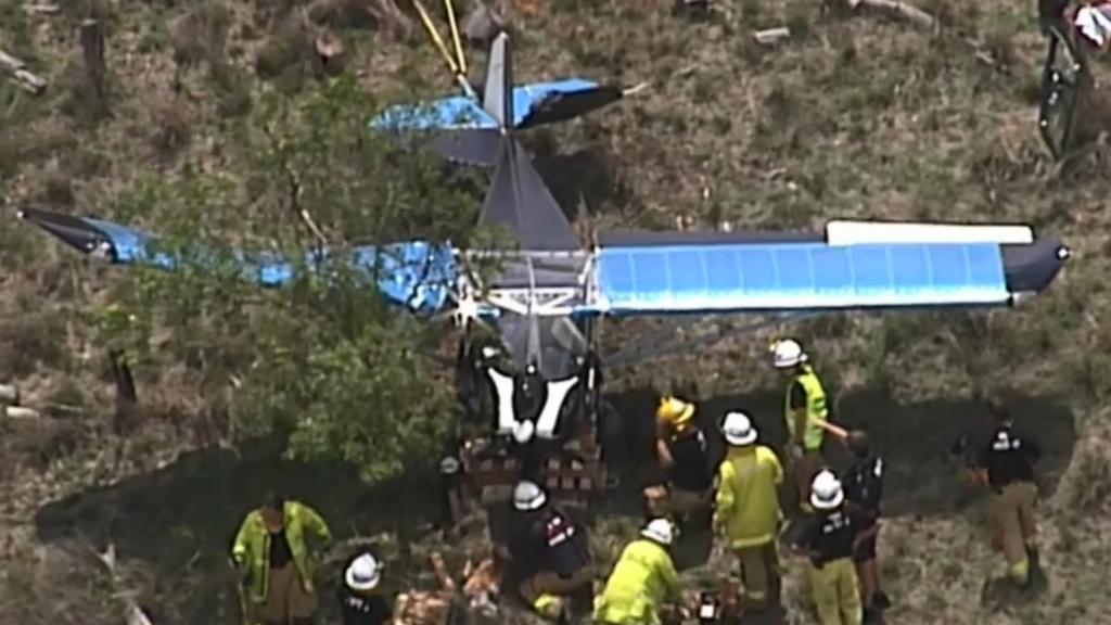 Pilot recovering after light plane crash