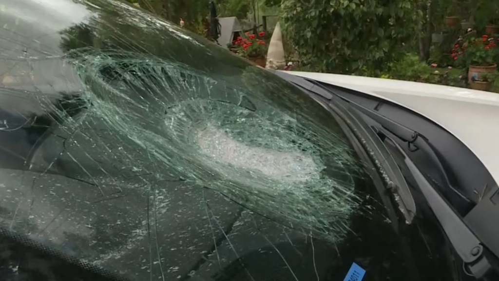 Brick thrown at car on Bruce Highway