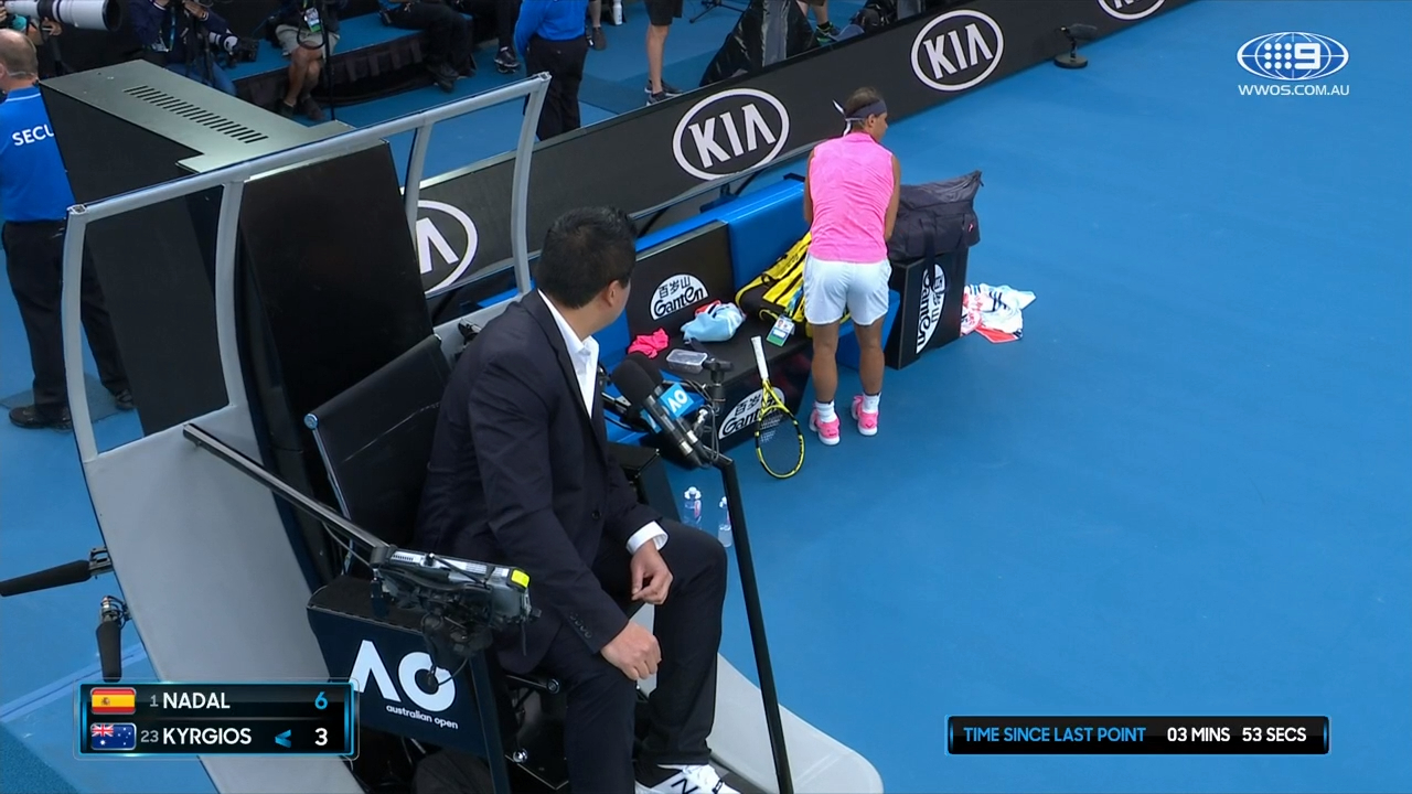 Rafa Nadal upset at ball boy touching... something!