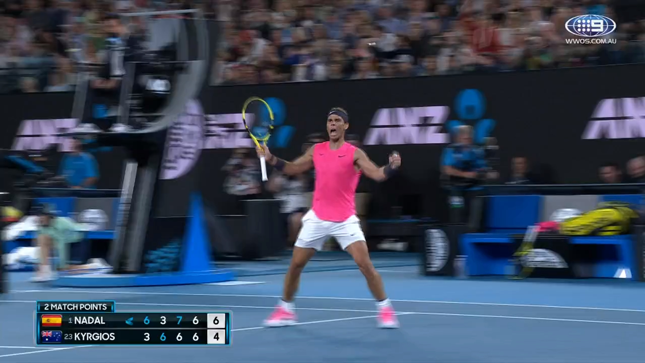 Nadal survives Kyrgios epic