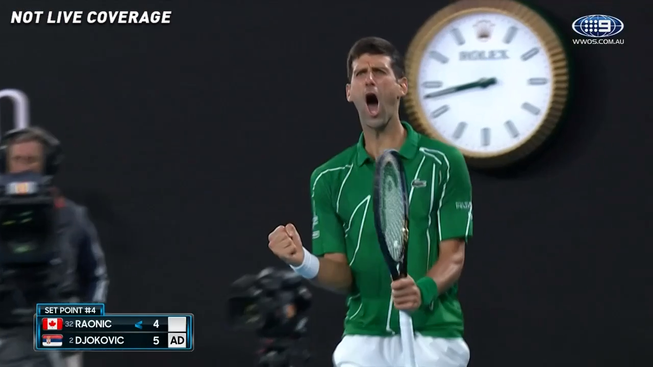 Djokovic grinds out first set win