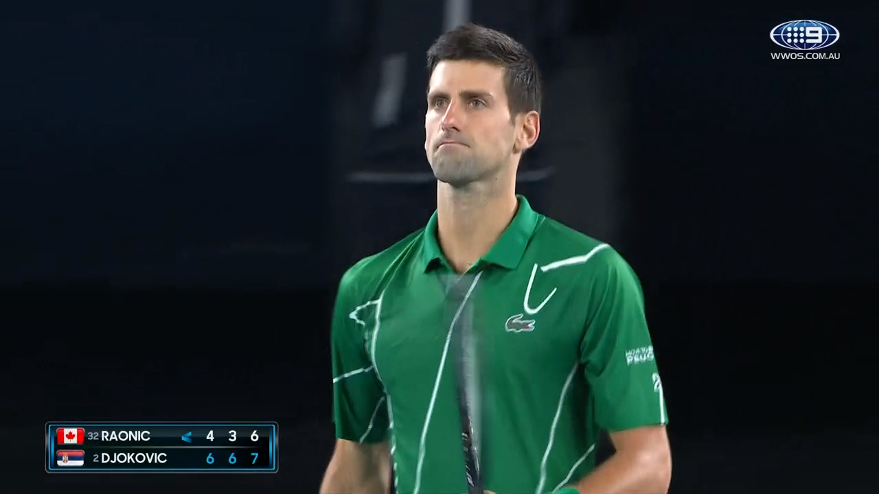 Djokovic knocks off Raonic to advance