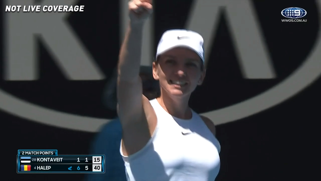 Halep powers to semi-finals