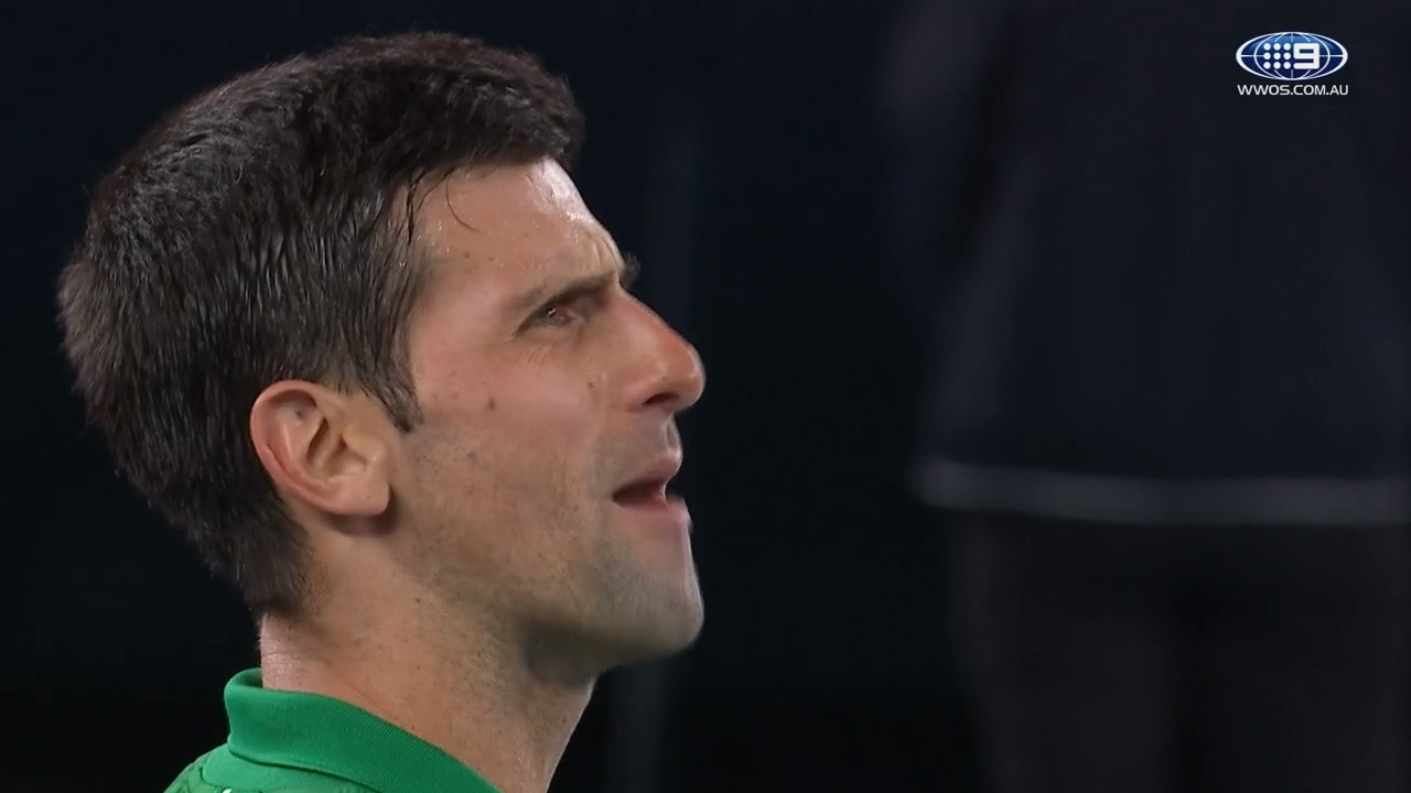 Angry Djokovic loses it during spray at umpire