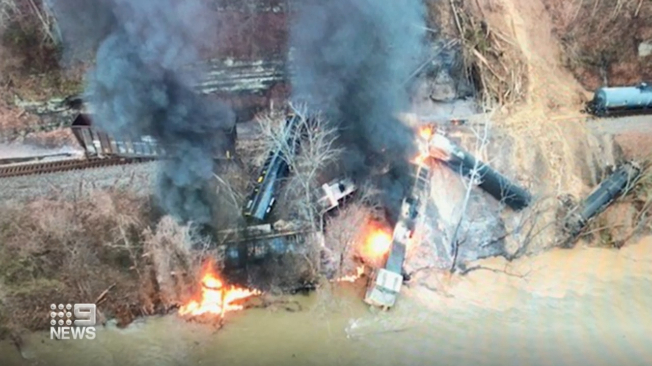 Rockslide triggers train to fall off tracks in US