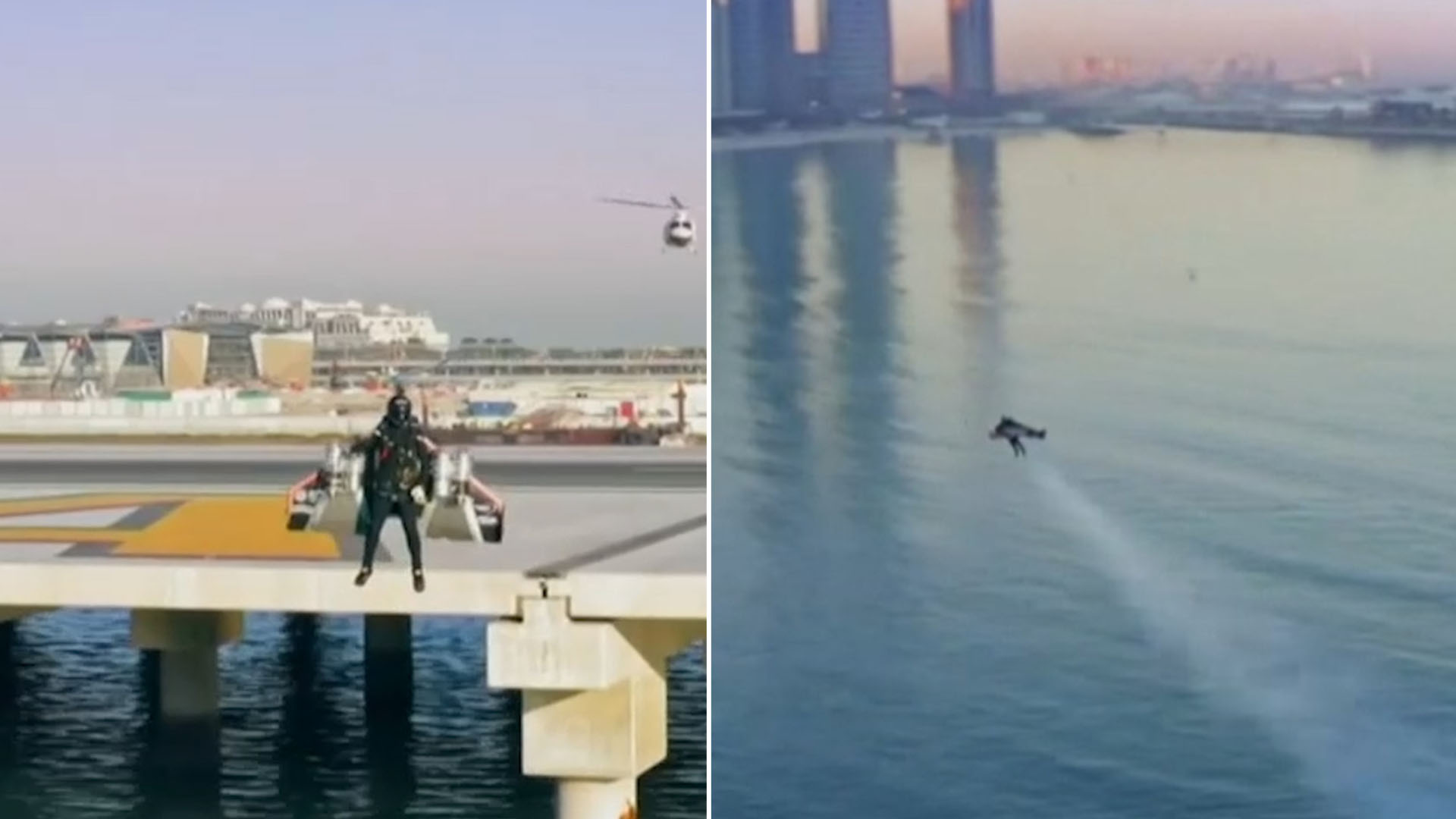 Jetpack pilot flies 1800 metres above Dubai