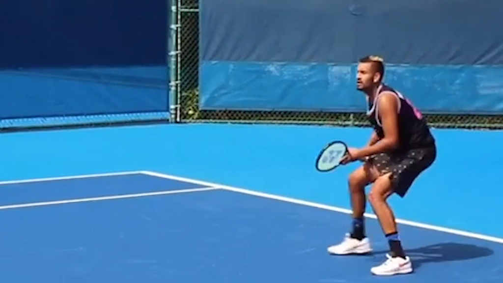 Kyrgios practices with Sock before Delray Beach Open