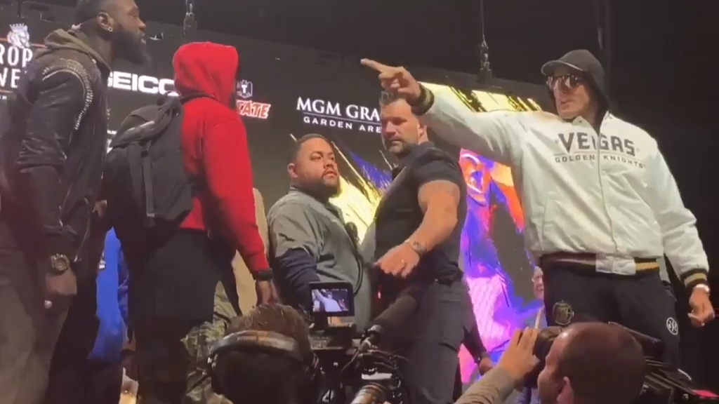 Fury and Wilder get into push and shove