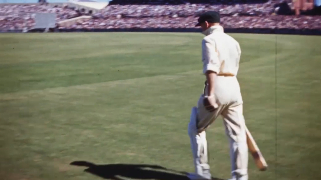 Cricket: For the first time ever, colour footage of Sir Donald Bradman batting has been uncovered
