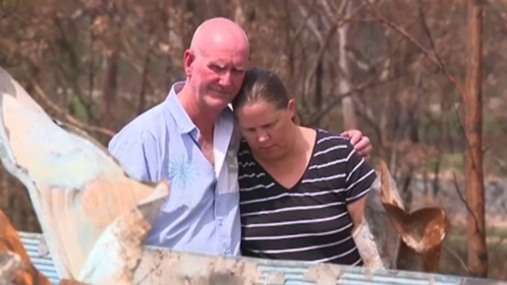 Family's bushfire-ravaged home cleared without permission