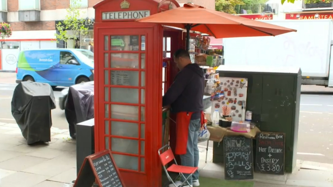 London phone boxes re-fashioned