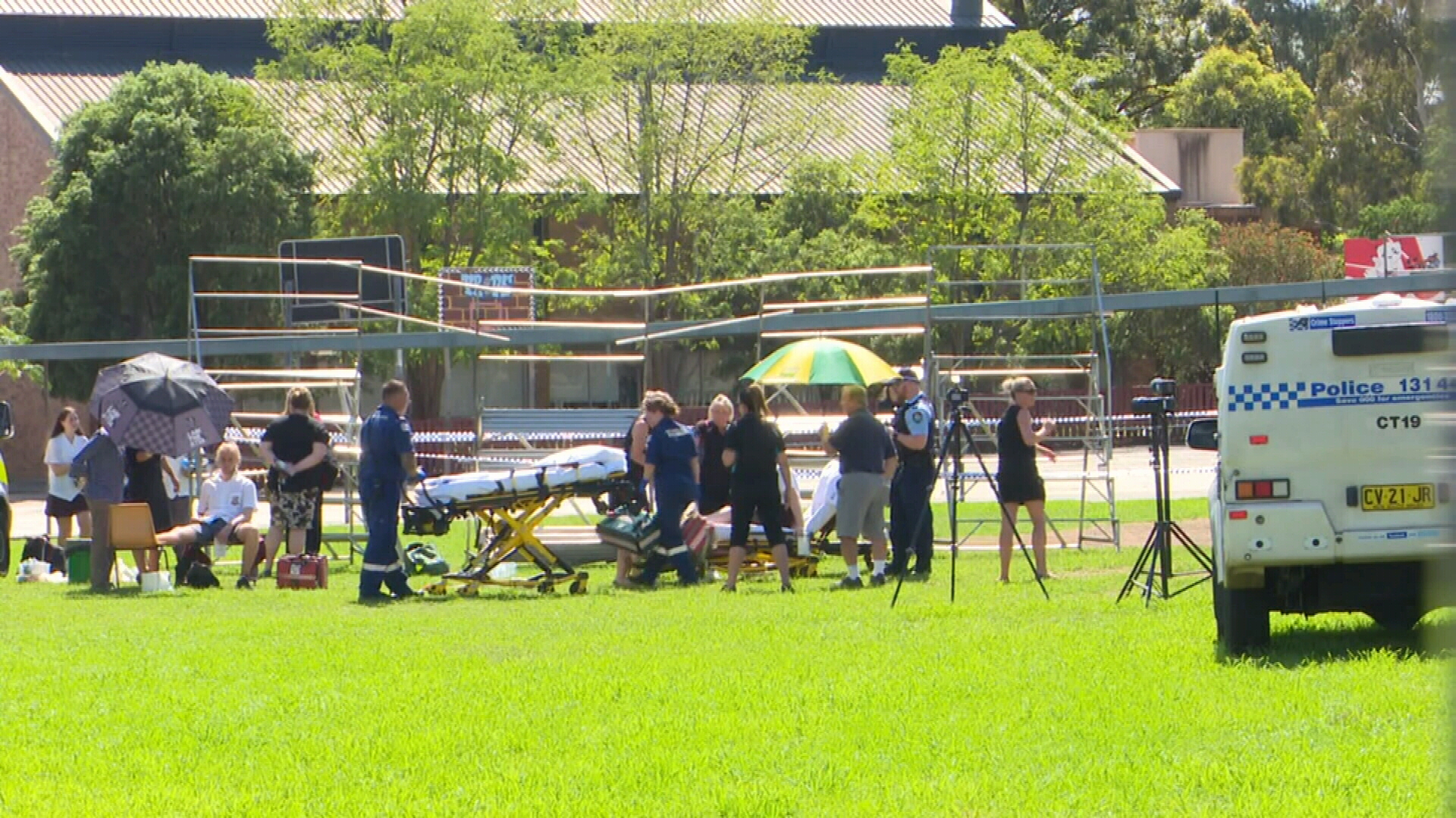 Students injured in platform collapse at high school in Campbelltown