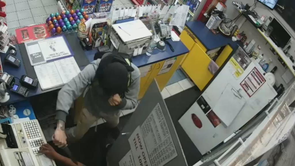 Service station hold-up captured on CCTV