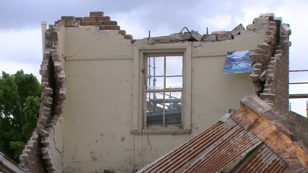 Building collapse in Sydney's inner west