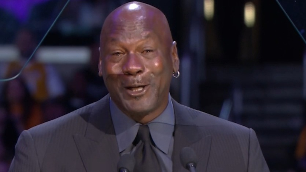 Kobe Bryan memorial video | Michael Jordan speech, crying meme joke