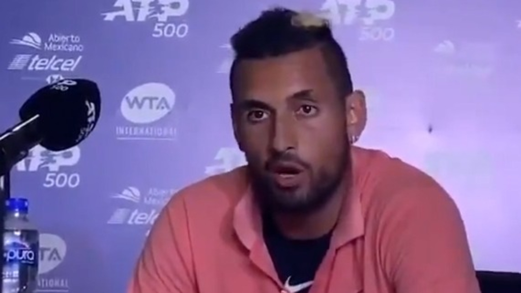 Nick Kyrgios blasts fans at the Acapulco Open