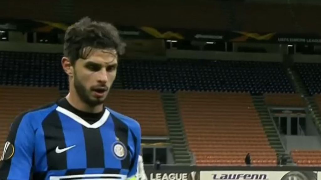 Inter Milan play in empty stadium