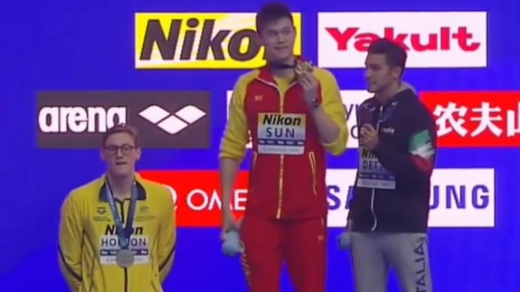 chinese gold medalist sun yang banned for eight years doping scandal