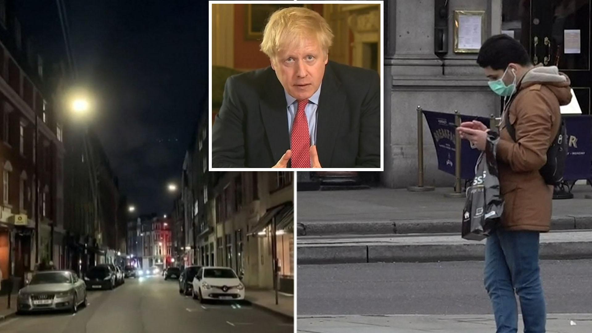 Coronavirus: Britain spends first day in lockdown