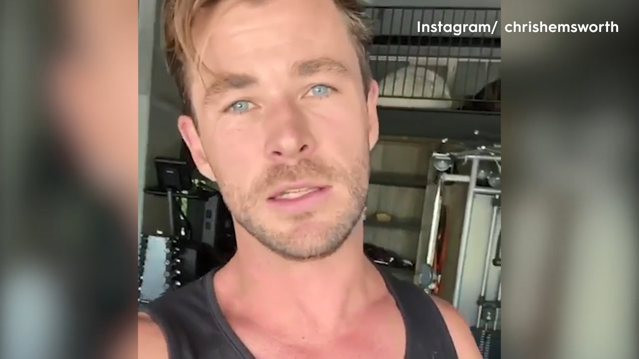 Chris Hemsworth offers free use of his fitness app Centr during coronavirus isolation