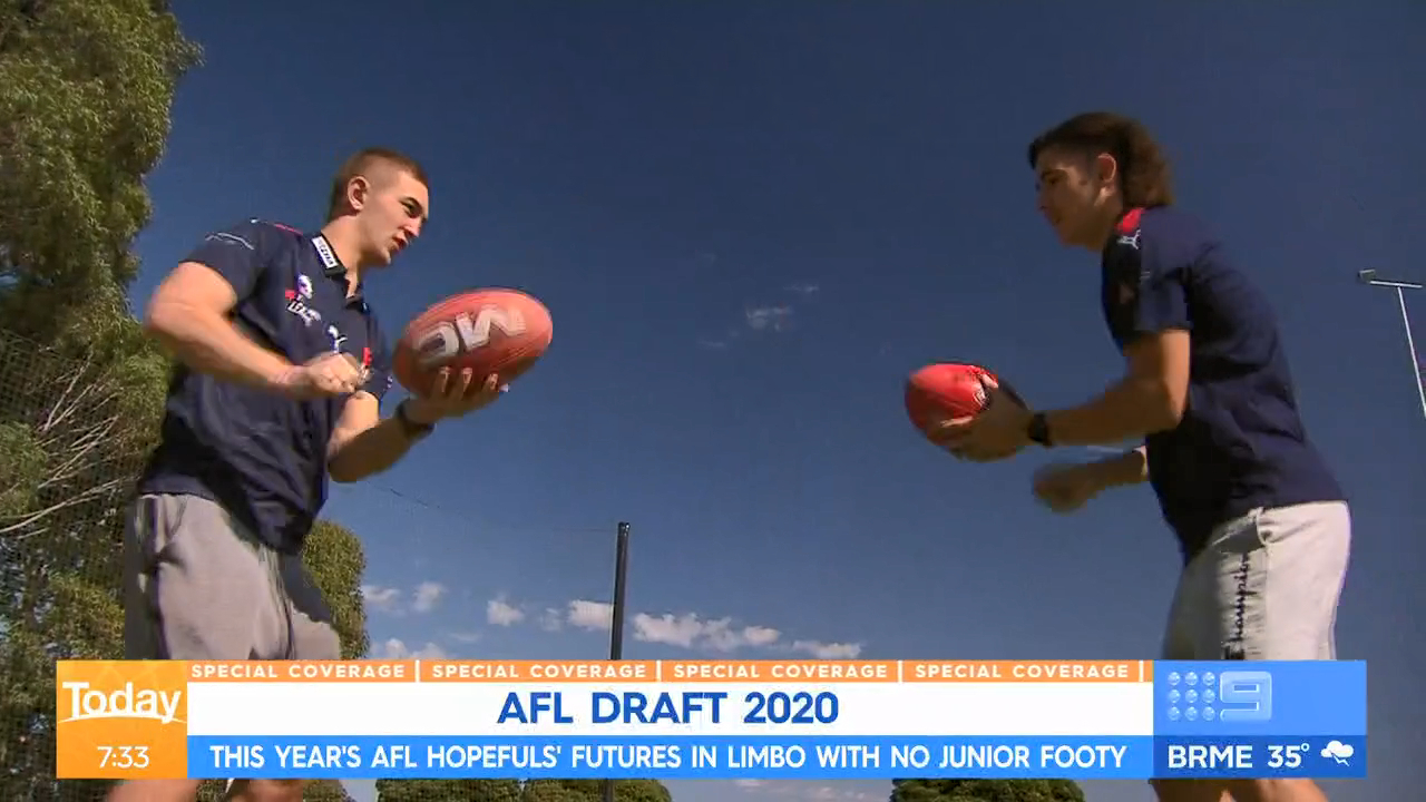 Flying blind for AFL Draft