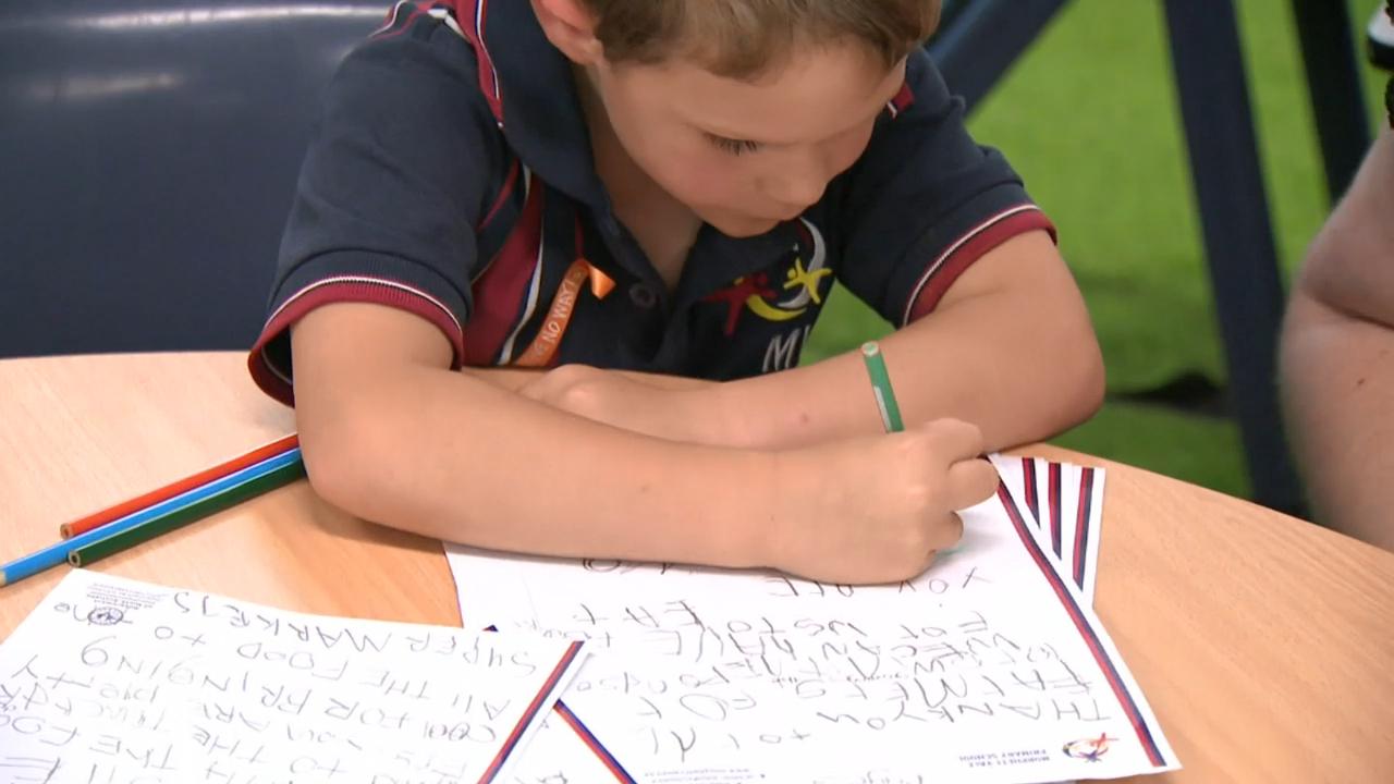 Coronavirus: Kids pen letters to frontline heroes