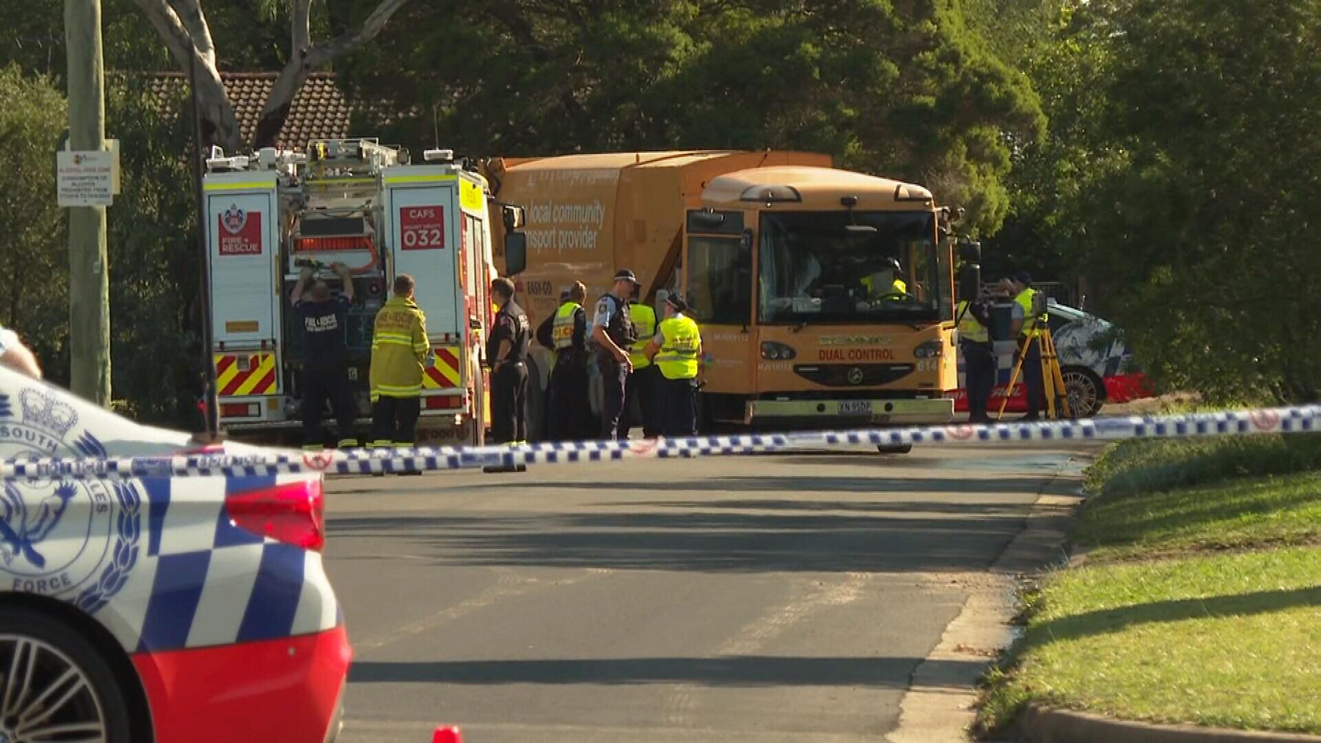 Pedestrian dies after being hit by garbage truck