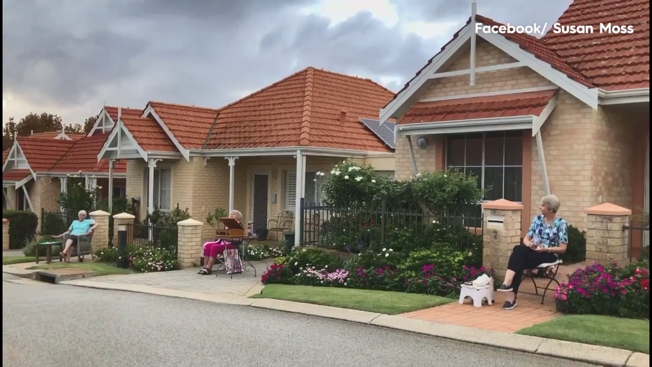 Coronavirus: Perth retirement village host a socially distant street party