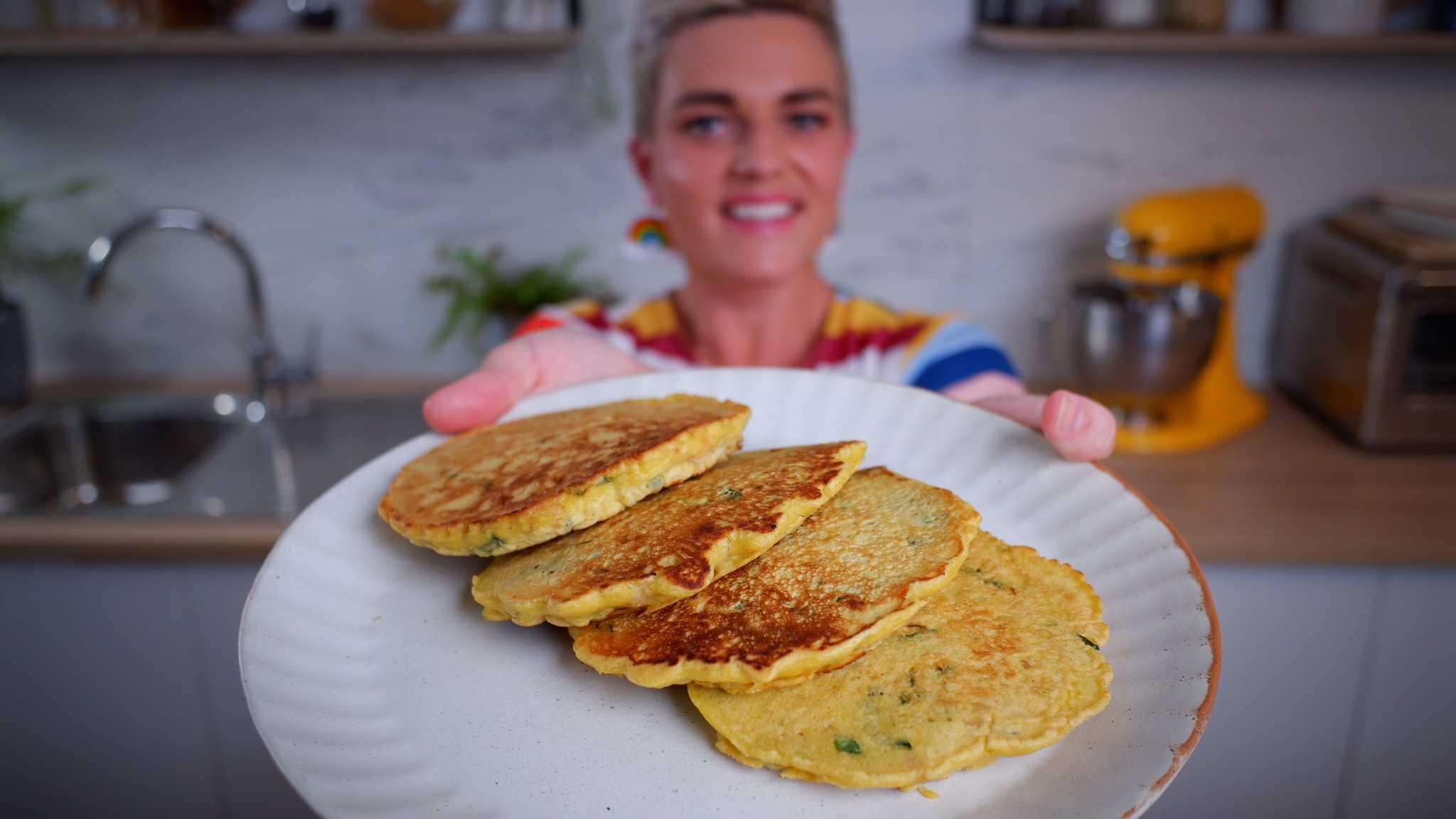 9Honey's Quarantine Kitchen cook-along: three ingredient chickpea pancakes