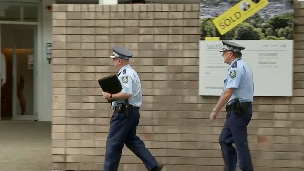 NSW Police seen at MP Don Harwin's house