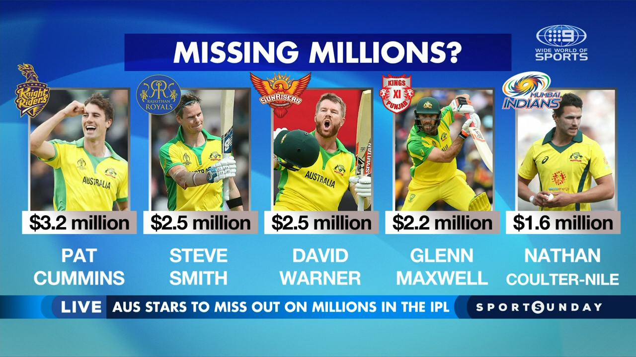 Cricket stars to cop pay cuts