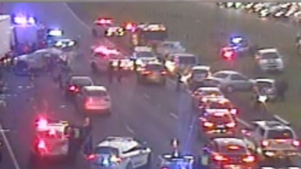 Four police officers dead in Melbourne freeway crash