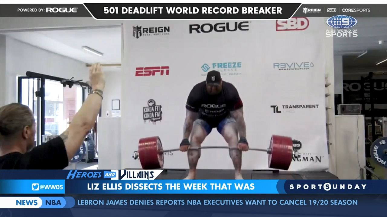Mountain lifts 501kg world record