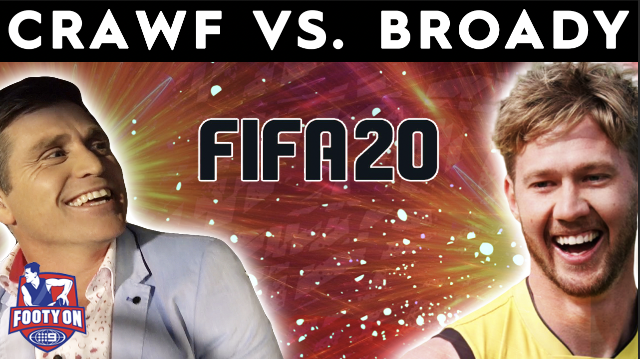Crawf Vs: Shane Crawford challenges Richmond defender Nathan Broad to FIFA20