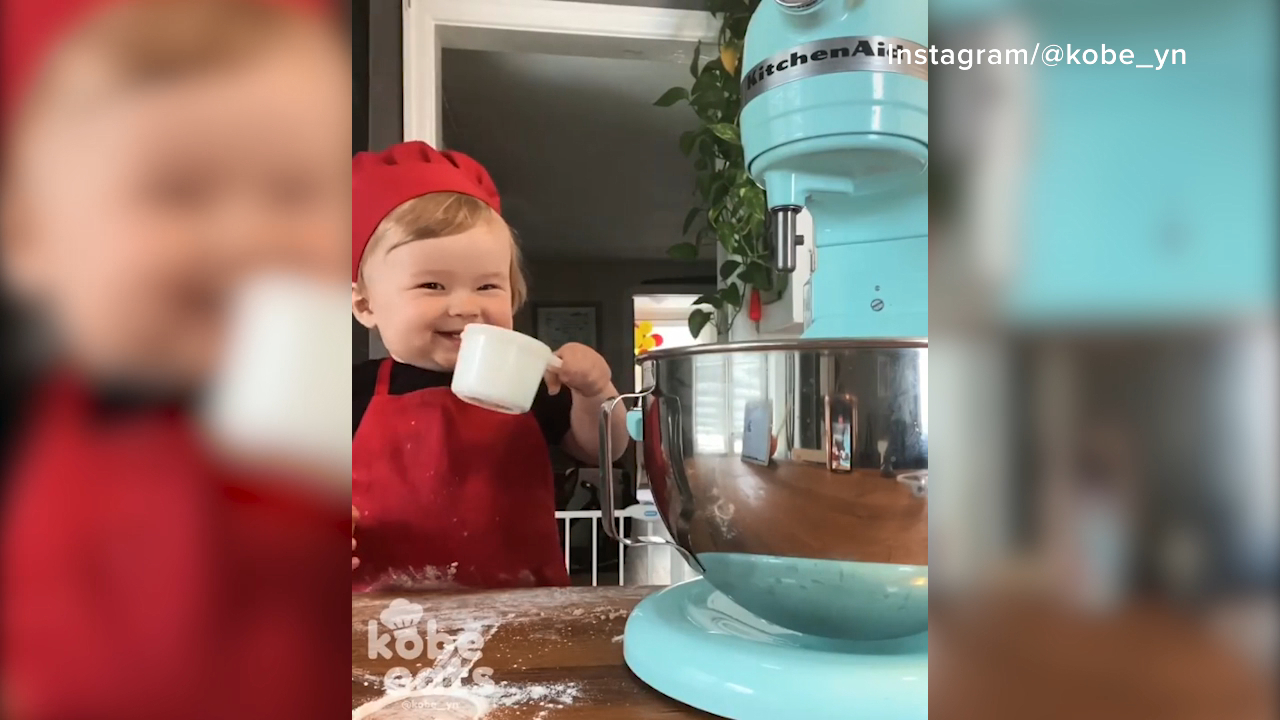 'Kobe Eats' is the adorable baby chef taking over Instagram