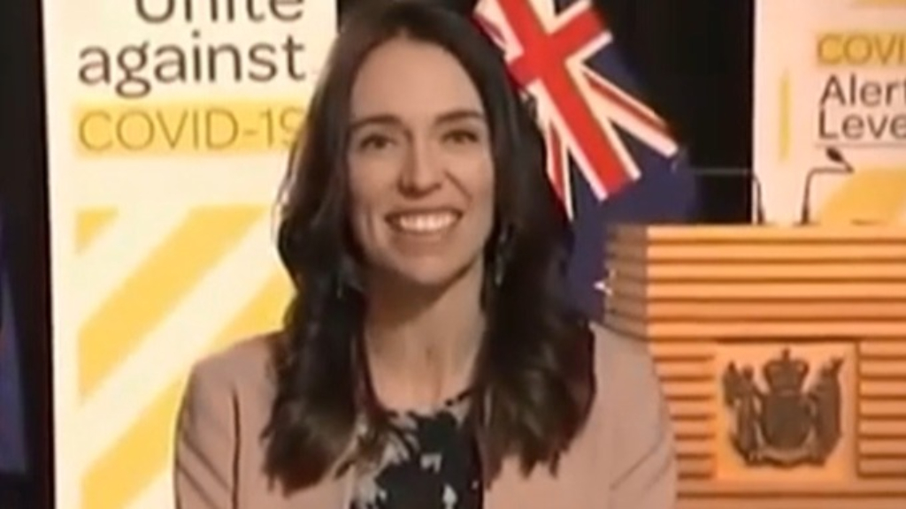 Jacinda Ardern keeps her cool amid earthquake during live interview