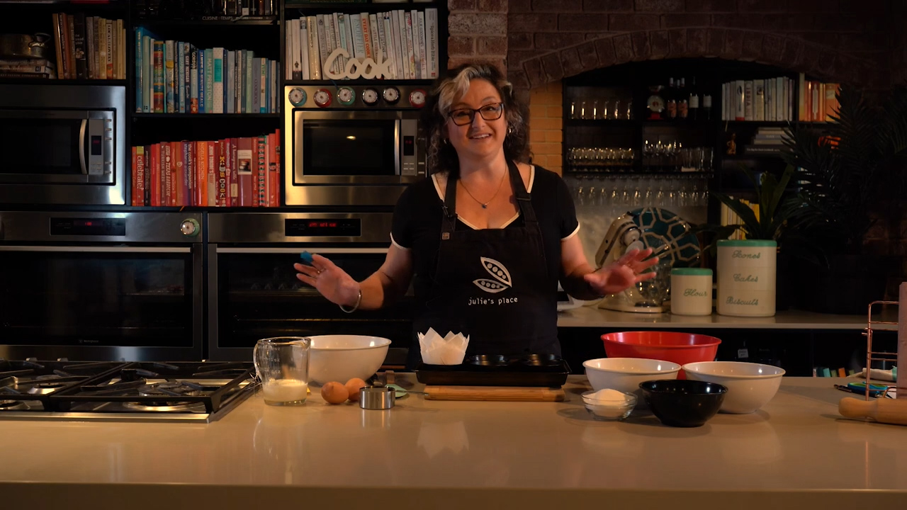 Julie Goodwin cooks white chocolate and berry muffins