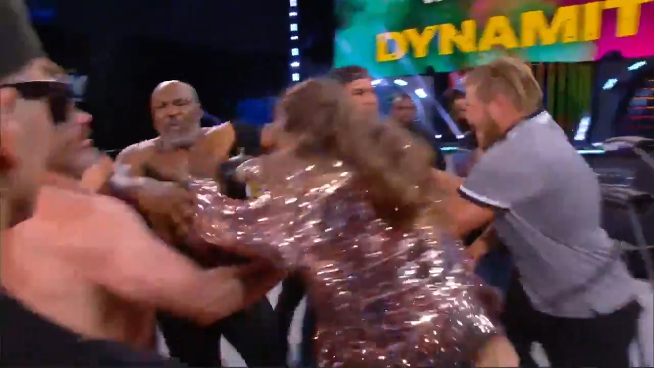 Mike Tyson Chris Jericho all-in brawl