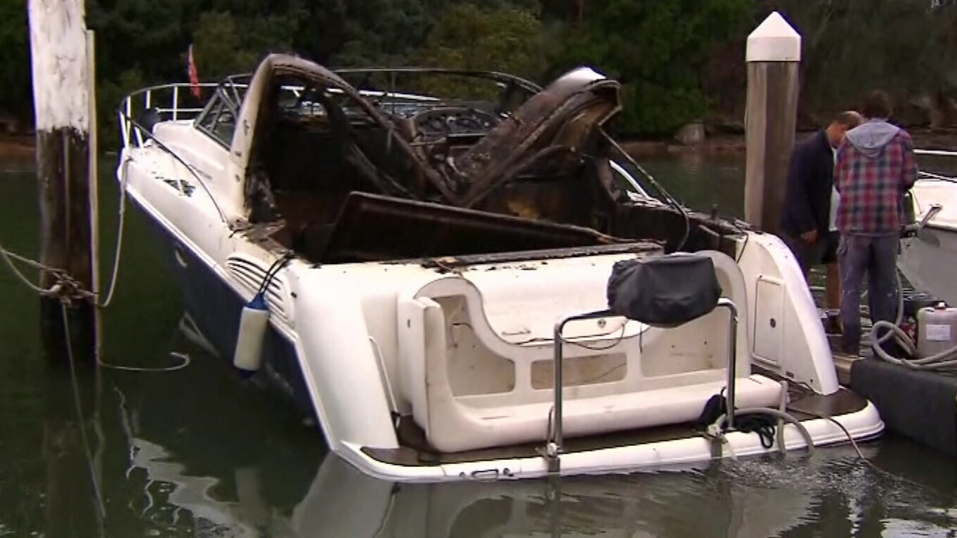 Teenager suffers serious burns after boat catches fire